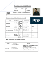 Sample PETROTECH CV Format
