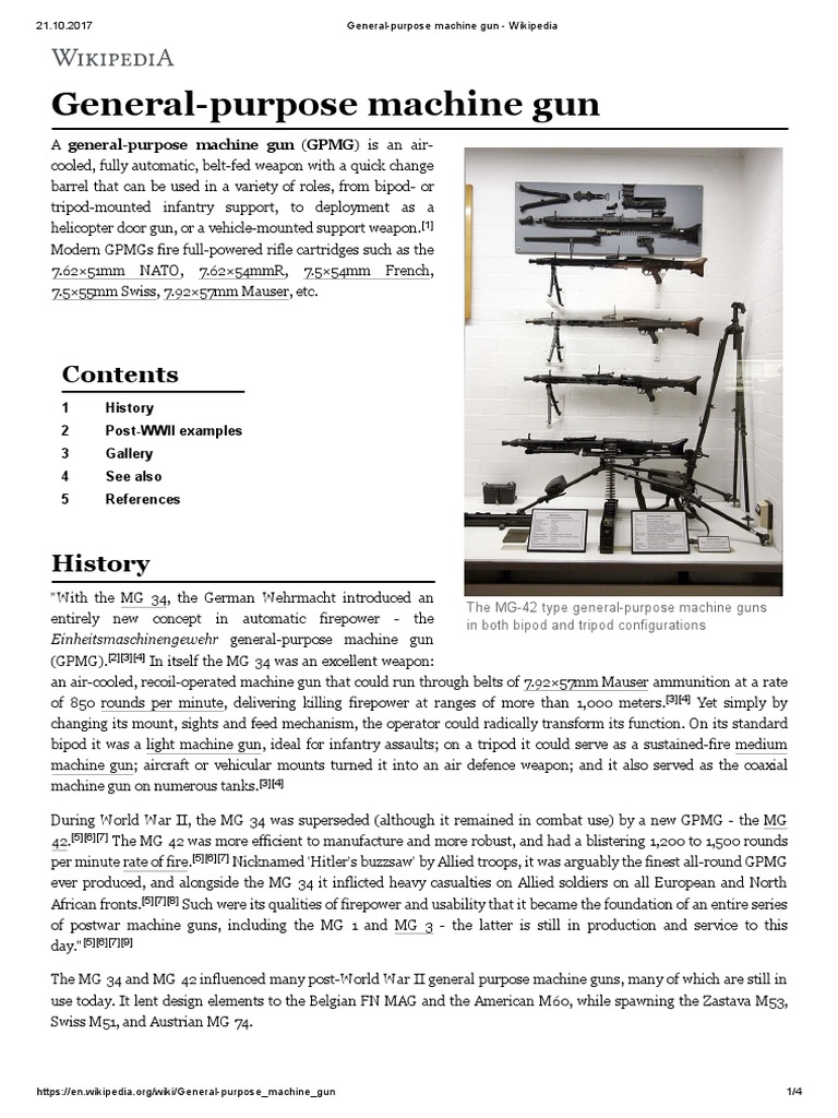 General-purpose Machine Gun - Wikipedia | Projectiles | Firearms