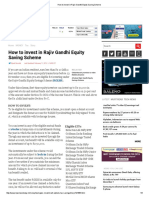 How to Invest in Rajiv Gandhi Equity Saving Scheme