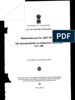Maharashtra Co Operrative Societies Act 1960 Bear Act...