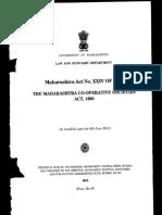 Maharashtra Co Operrative Societies Act 1960 Bear Act...
