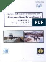 18945,Summary International Seminar Maintenance Rural Roads World Road Association Morocco Rabat 2006