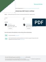 Tareas y Competencias Del Tutor Online
