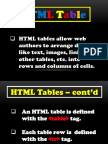 Lecture 2 - HTML Table