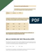 Proceso de Neutralización
