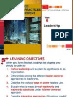 Topic 6 Leadership