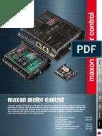 Maxon Motor Control Catalog Data