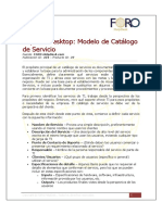 ID. 324 Soporte Desktop Modelo de Catálogo de Servicio
