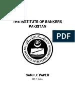 SBP ITAuditor Sample Paper