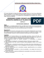 Ordenanza Sobre Cronista Municipal Andres Eloy Blanco