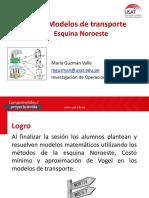 Modelo de Transporte Solución Esquina Noroeste - Industrial