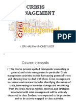 Introduction to Crisis Management
