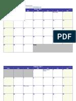 Calendario 2017 Horizontal