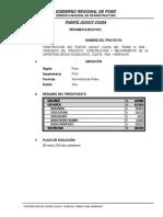Resumen Ejecutivo Puente Juchuy Ccasa