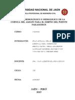 INFORME DE HIDROLOGÍA E HIDRÁULICA