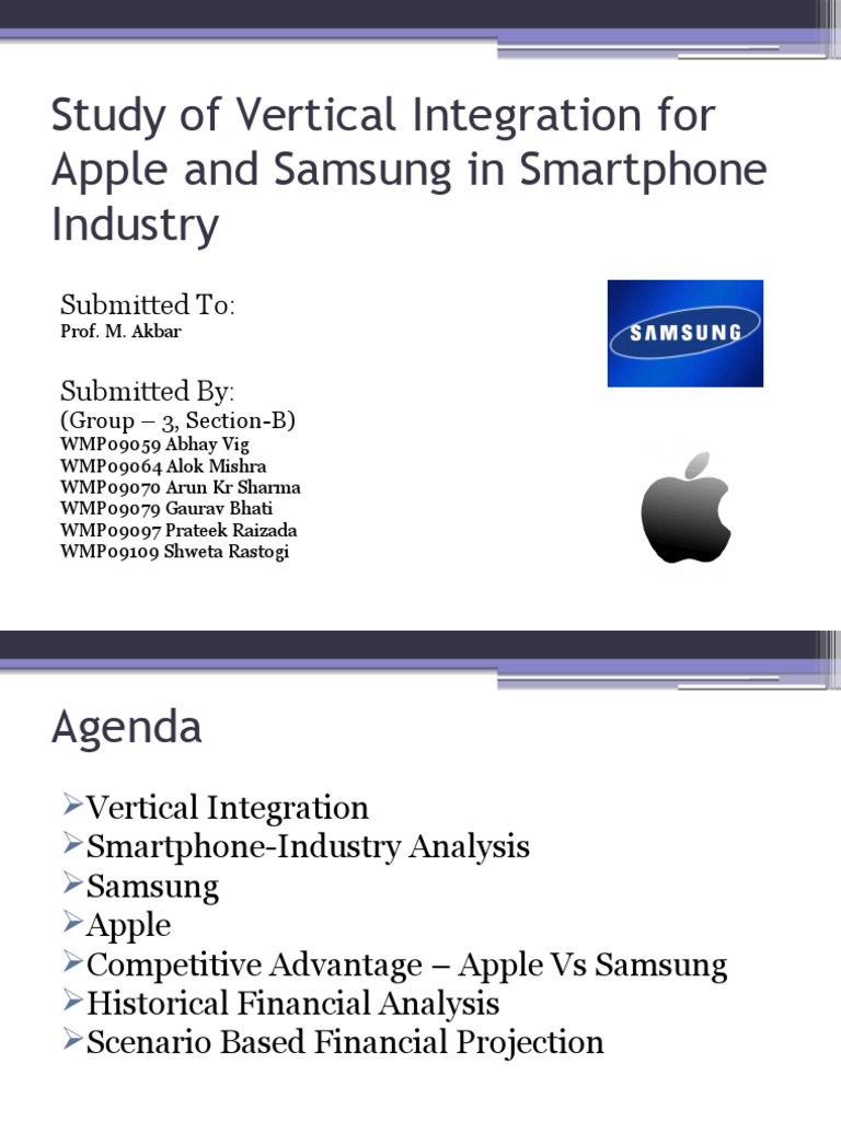 292151513 Samsung Vertical Integration | Samsung | Apple Inc