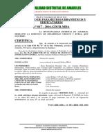Certificado de Parametros y Edificatorios 2015