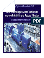 Field Balancing and Vibration Reduction of Large Power Generation Steam Turbines