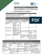 2. Plan de Gestión de Proyectos