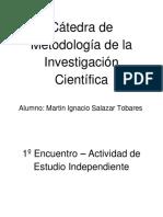 Cátedra de Metodología de La Investigación Científica