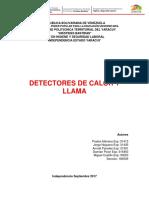 Detectores de llama y calor