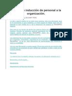 Manual de Inducción de Personal a La Organización