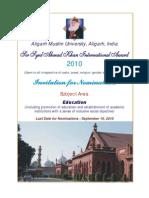 Sir Syed Ahmad Khan International Award 2010