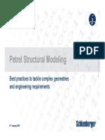 Petrel Structural Modeling