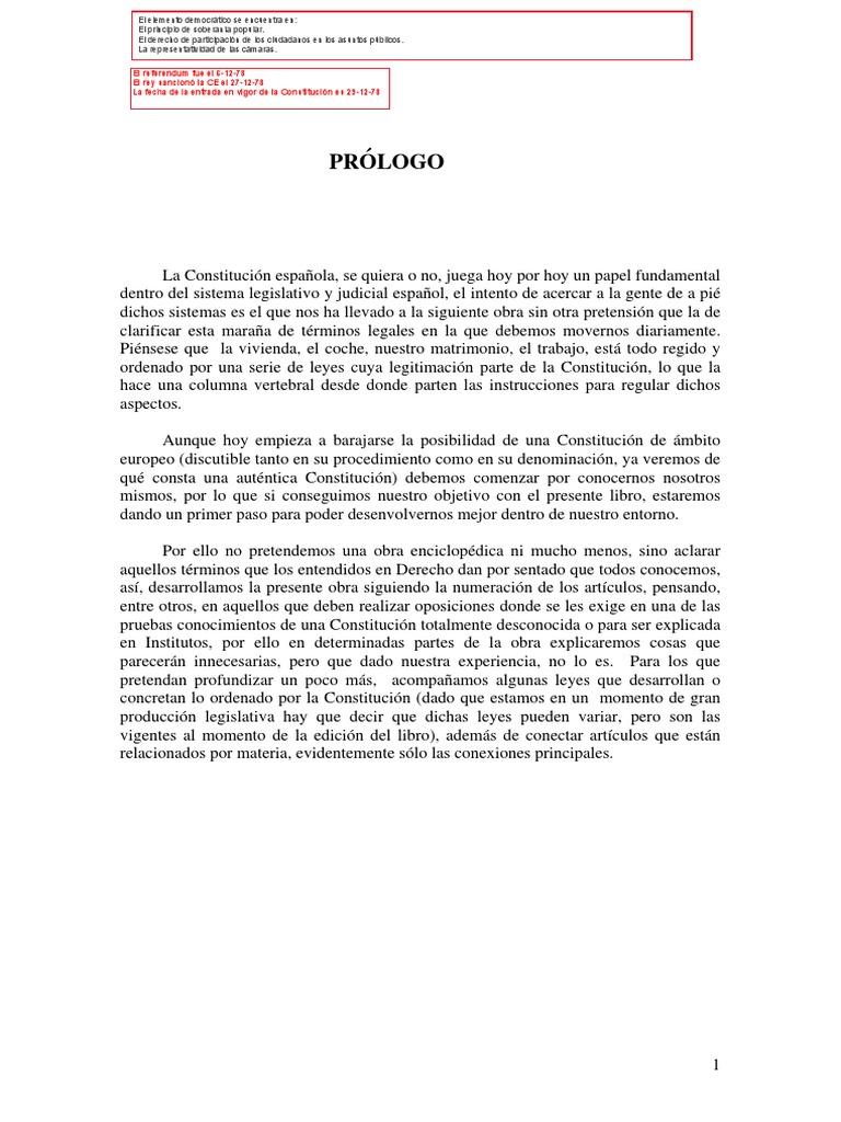 Constitución Española de 1978 - Explicada Para Examenes y