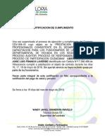 Certificaciones Para Pago 2016