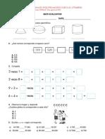 Math Evaluation Merary