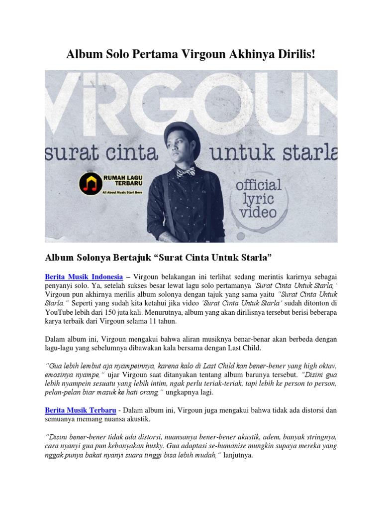 Album Solo Pertama Virgoun Akhinya Dirilis