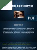 Diapositivas Principio de Inmediatez