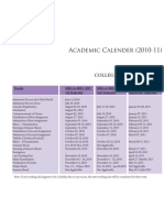 2010-2011AcademicCalenderCollegeofManagement