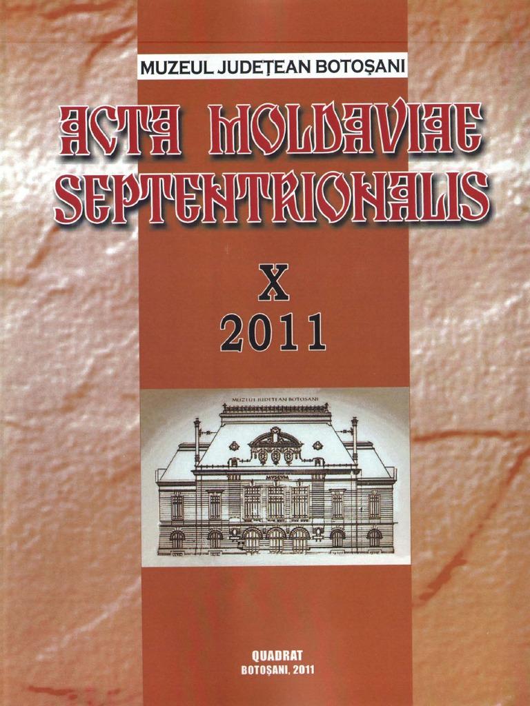 2011 X Septentrionalis Moldaviae pdf Acta 10 qOzpYc