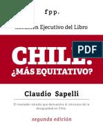 Resumen Ejecutivo Chile Mas Equitativo Claudio Sapelli
