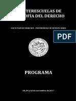 Programa - III Interescuelas de Filosofia Del Derecho