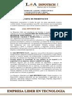 Carta de Presentacion l&a Infotech Sac (1)