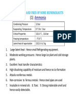 Properties of Refrigerants