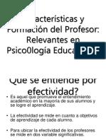 Características y Formación Del Profesor