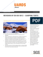 Sgs Safeguards 19911 Revision of en Iso 5912 Camping Tents en 11