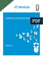 Industria 4.0 National Plan