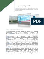 Algunos Programas Para Ingeniería Civil