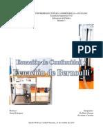 3. Ecuación de Continuidad y Ecuación de Bernoulii(1)