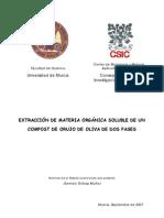 Tesina EXTRACCIÓN DE MATERIA ORGÁNICA SOLUBLE DE UN