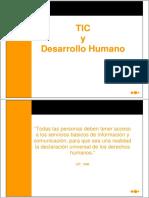 TIC y Desarrollo Humano