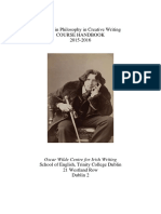 Creative Writing Course Handbook