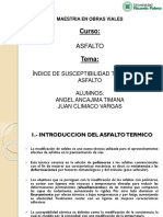 Exposicion Indice de Susceptibilidad Térmica Del Asfalto Maestria URP