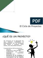 3. Ciclo de Proyectos