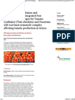 Development, Validation and Dissemination of Integrated Pest Management Packages for Tomato Leafminer (Tuta Absoluta) and Fusarium Wilt-root Knot Nema